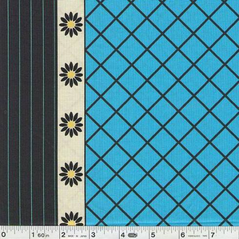 flower grid-blue