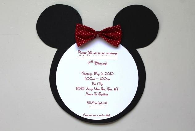 Double theme birthday party – Mickey Mouse Invitation Template