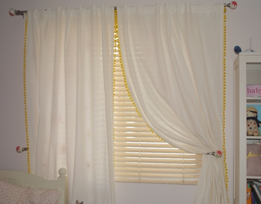 Pom Pom Trim Curtains